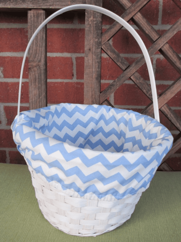 Easter Basket Blue Chevron Liner Personalized