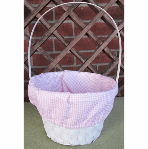 Easter Basket Pink Gingham Liner Personalized