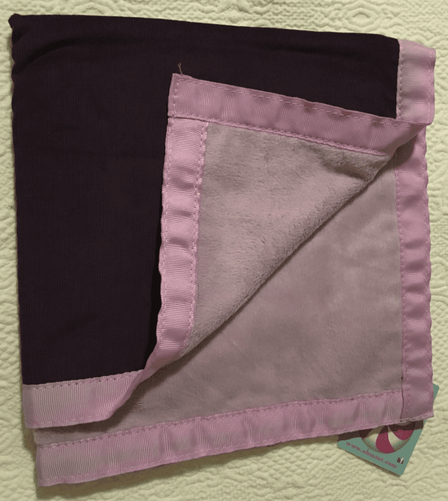 Eggplant Corduroy and Minky Baby Burp Personalized
