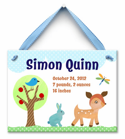 Forest Friends (Boy) Personalized Wall Tile