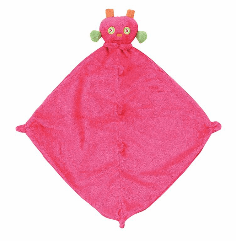 Fuchsia Robot Angel Dear Monster Blanket Personalized