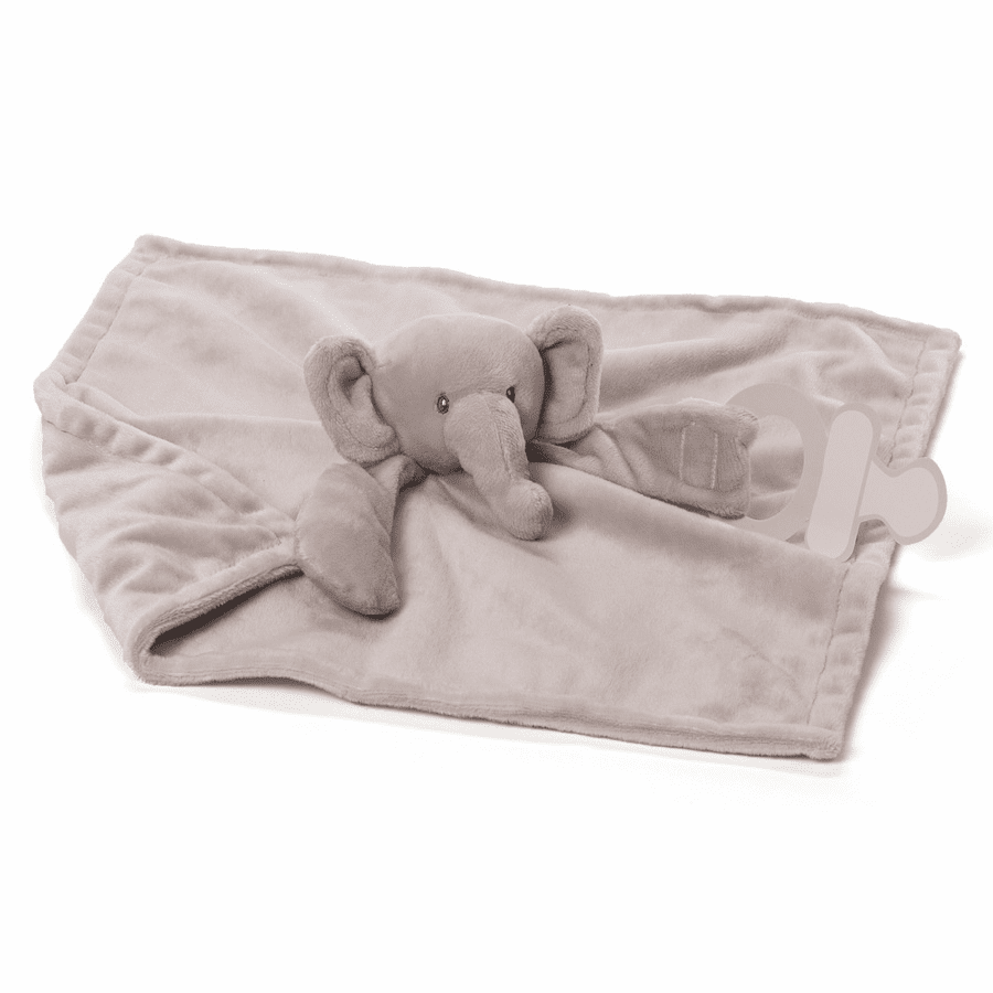 Gradie Grey Elephant Hankie/Pacifier Holder