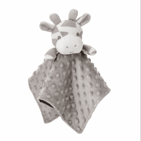 Gray Giraffe Minky Snuggle Blanket Personalized
