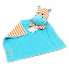 Hope Hippo Poetic Plush Mini Blanket