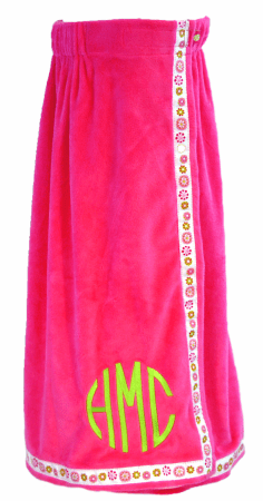 Hot Pink Blooms Towel Wrap From Mint