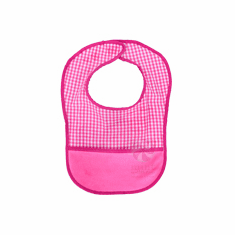 Hot Pink Gingham Baby Bib Personalized