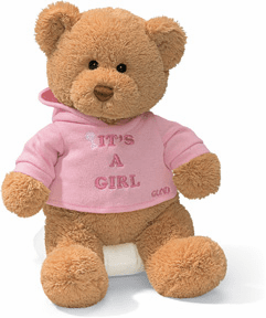 It's a Girl Sweatshirt Bear
