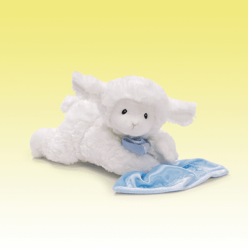 Lena Prayer Lamb Blue Blanket Personalized