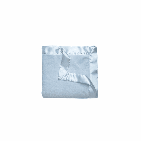 Light Blue Coral Fleece Blanket Personalized