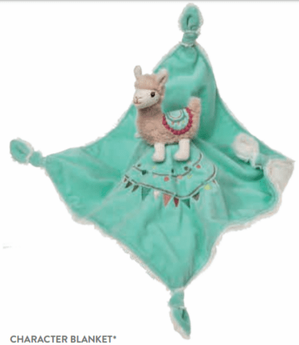 Lily Llama Character Blanket Personalized