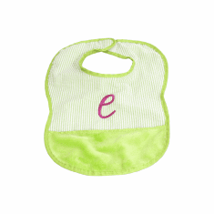 Lime Baby Bib Personalized