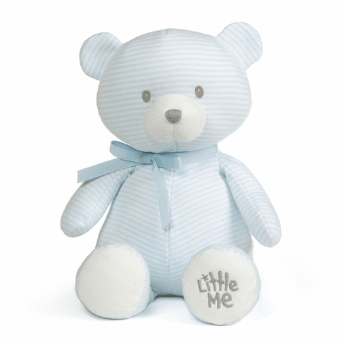 Little Me Blue Striped Teddy Bear