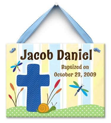 Living Cross Personalized Wall Tile (Boy)