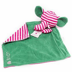 Love Elephant Poetic Plush Mini Blanket