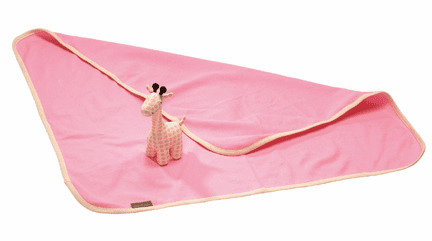 Love Our Earth Pink Giraffe and Blanket Gift Set
