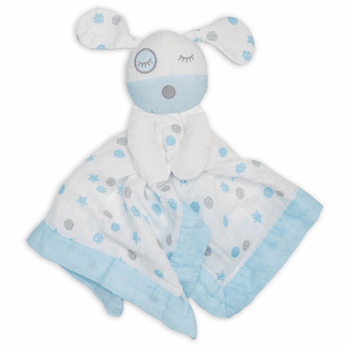 Lulujo Lovies Blue Puppy Personalized