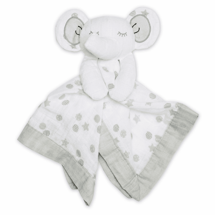 Lulujo Lovies Grey Elephant Personalized