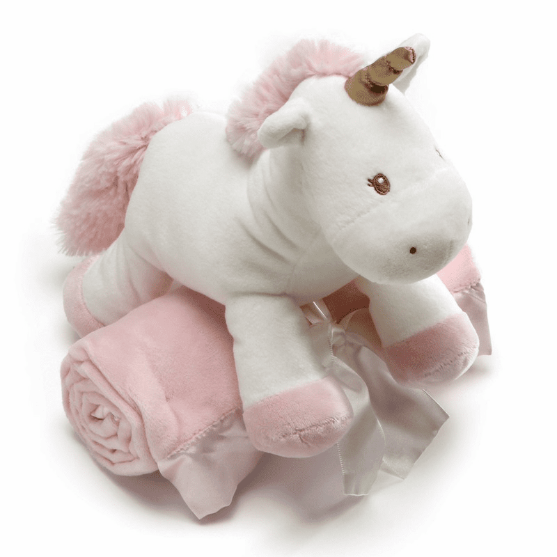 Luna Unicorn Plush with Personalized Blanket