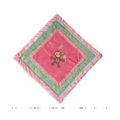 Maddie Monkey Cozy Blanket Personalized