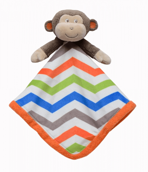 Monkey Chevron Snuggle Buddy Personalized