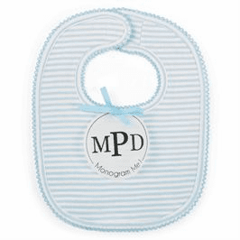 Monogram Me Blue Bib Mud Pie