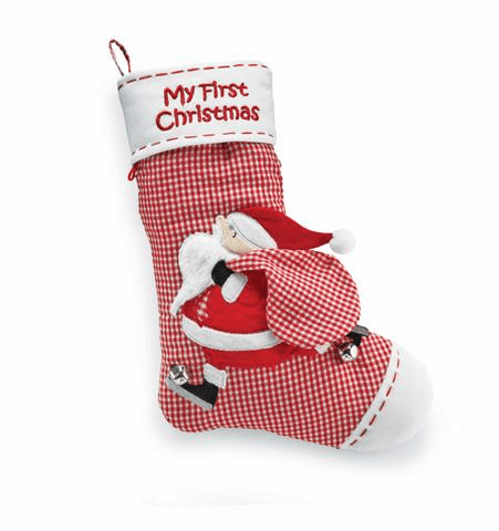 Mup Pie My First Christmas Gingham Stocking
