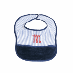 Navy Baby Bib Personalized