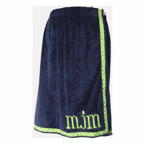 Navy Green Apple Trim Towel Wrap From Mint