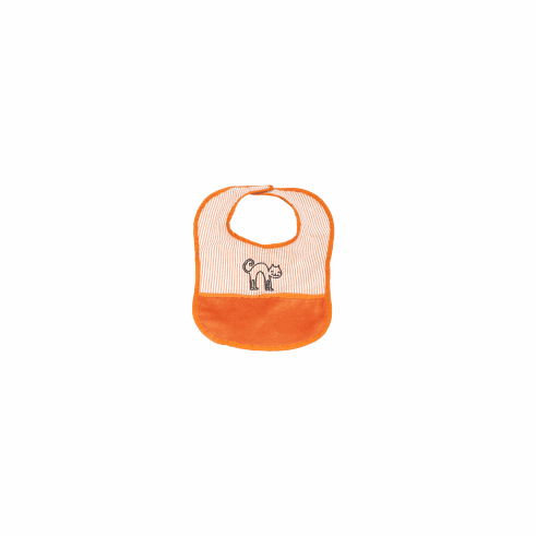 Orange Baby Bib Personalized