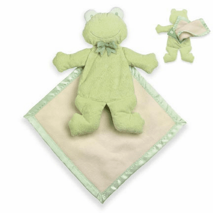 Pancake Frog&#153 with Blanket  Personalized with Embroidery