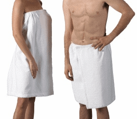 Personalized Terry Velour Towel Wraps