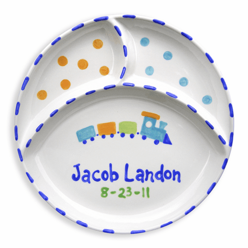 Personalized Train Divided Plate