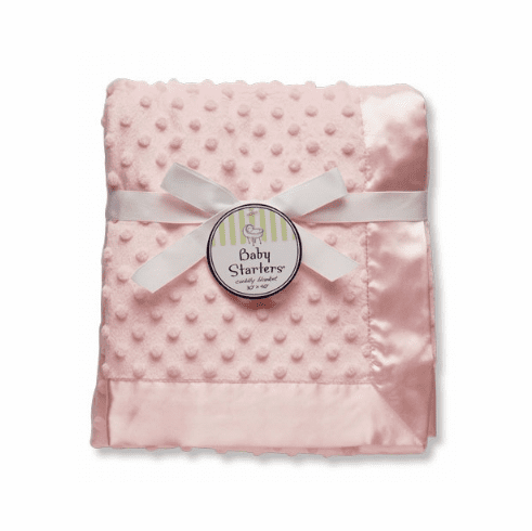 Pink Minky Blanket Personalized