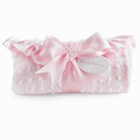 Pink Minky Blanket Ruffle Edge Personalized
