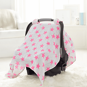 Pink Star Car Seat Canopy