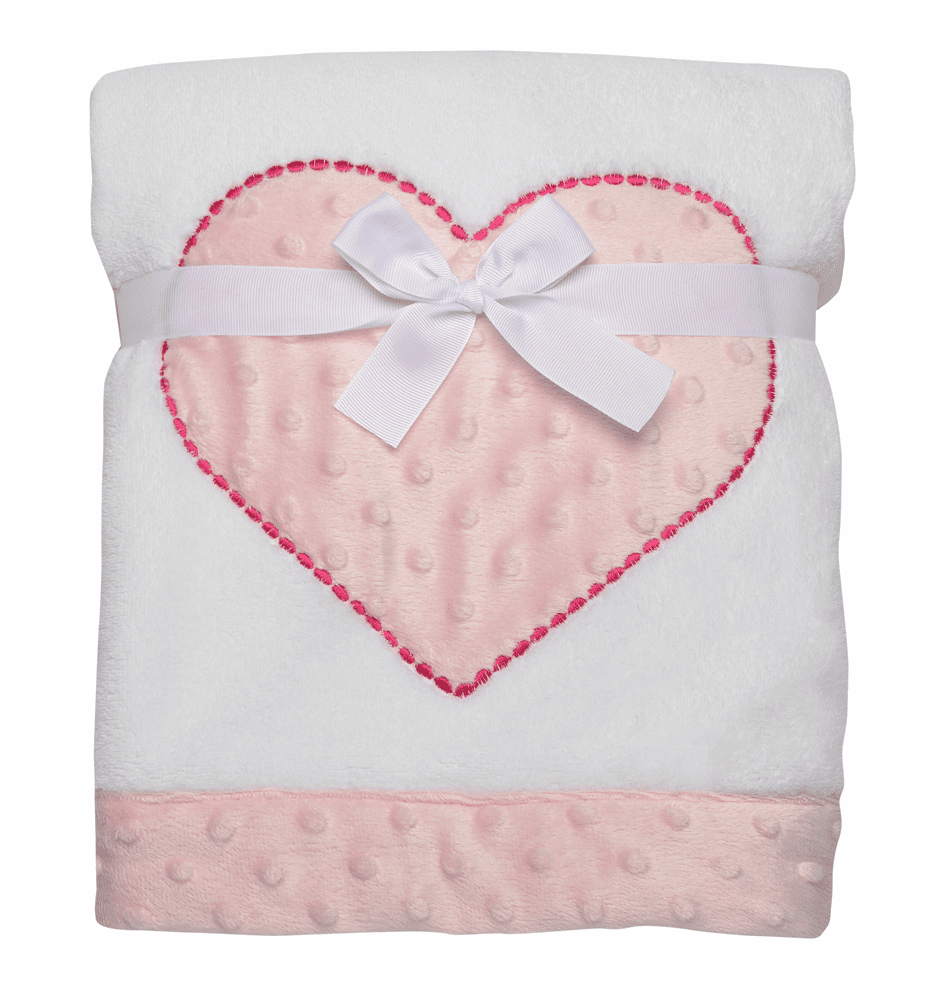 Pink Star Minky Plush Boa Blanket Personalized