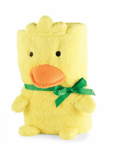 Plush Duck Blanket by Mud Pie Personalized
