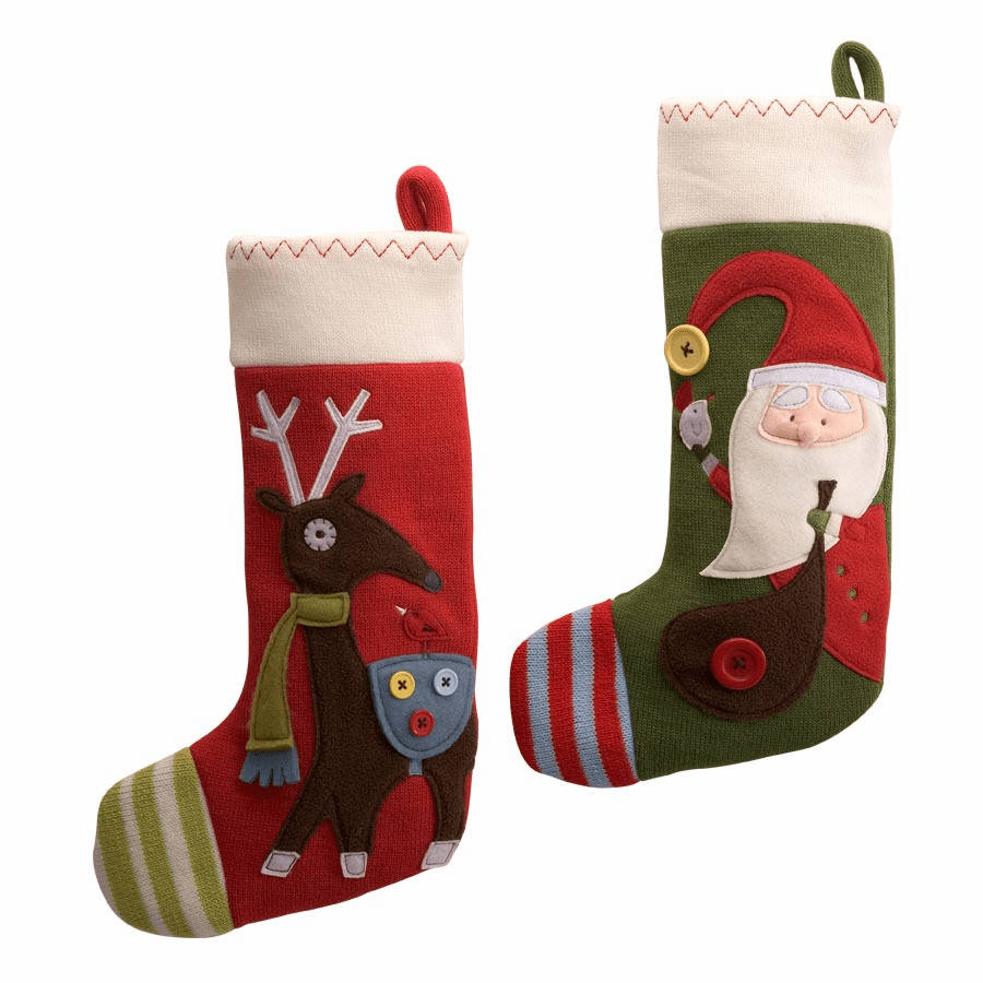 Reindeer Applique Christmas Stocking by Gund