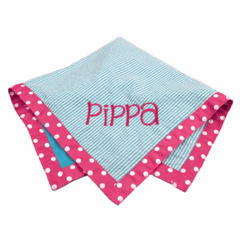 Reversible Aqua and Pink Burp Personalized