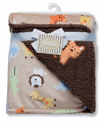 Reversible Safari Print Blanket Personalized
