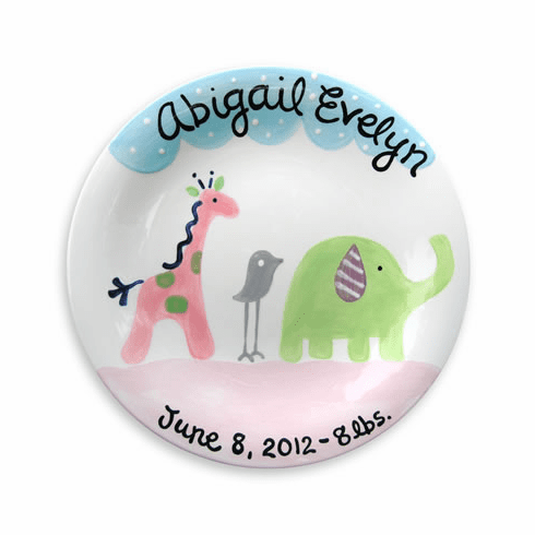 Safari Friends (Girl) Personalized Plate