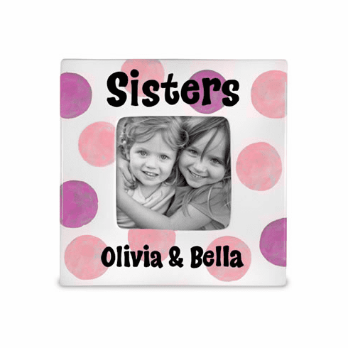 Sisters Ceramic Photo Frame