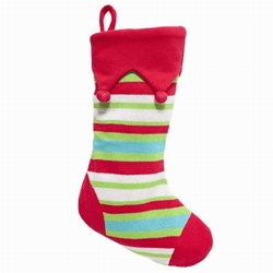 Striped Cable Knit Stocking Personalized