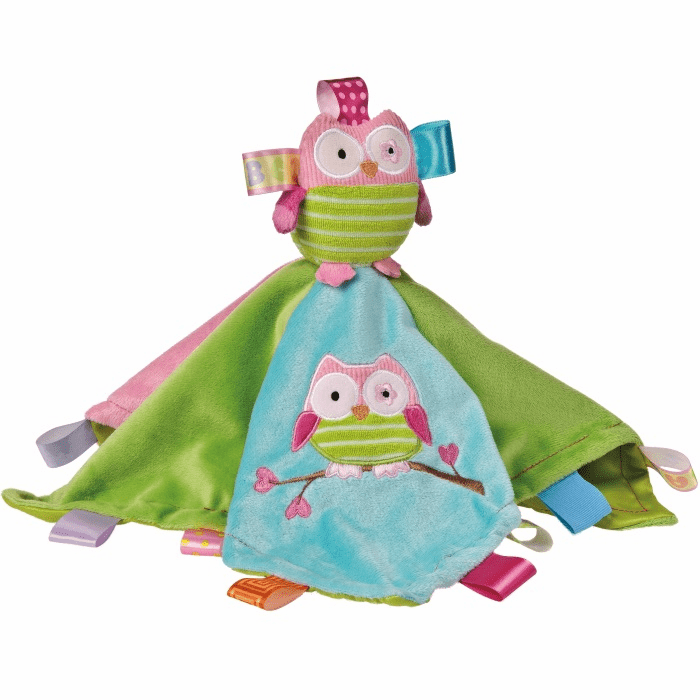 Taggies Oodles Owl Character Blanket Personalized