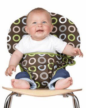 Totseat Travel Highchair Chocolate Circles