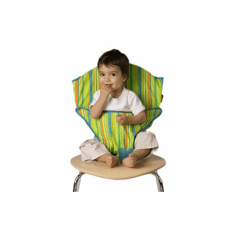 Totseat Travel Highchair Green Stripes