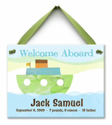 Welcome Aboard Personalized Wall Tile