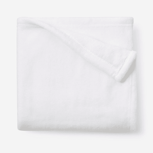 White Simple Fleece Baby Blanket Personalized