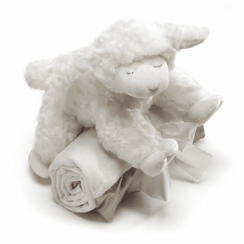 Winky Lamb with Personalized Blanket