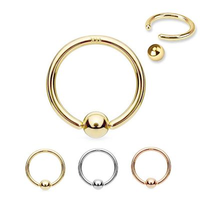 14K Gold CBR Hoop - Cartilage, Nose, Eyebrow, Lips